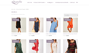 Site e-commerce Aquarelle réalisé par zenitek