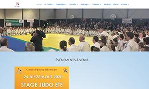 Site vitrine pour le comité de Judo de la Dordogne réalisé par Zenitek