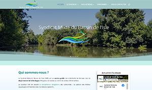 Site vitrine pour le Syndicat Mixte du Bassin de l'Isle réalisé par zenitek